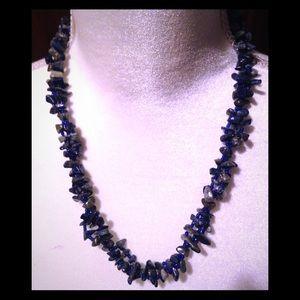 Jewelry - 20 inch lapis lazuli natural gemstone necklace